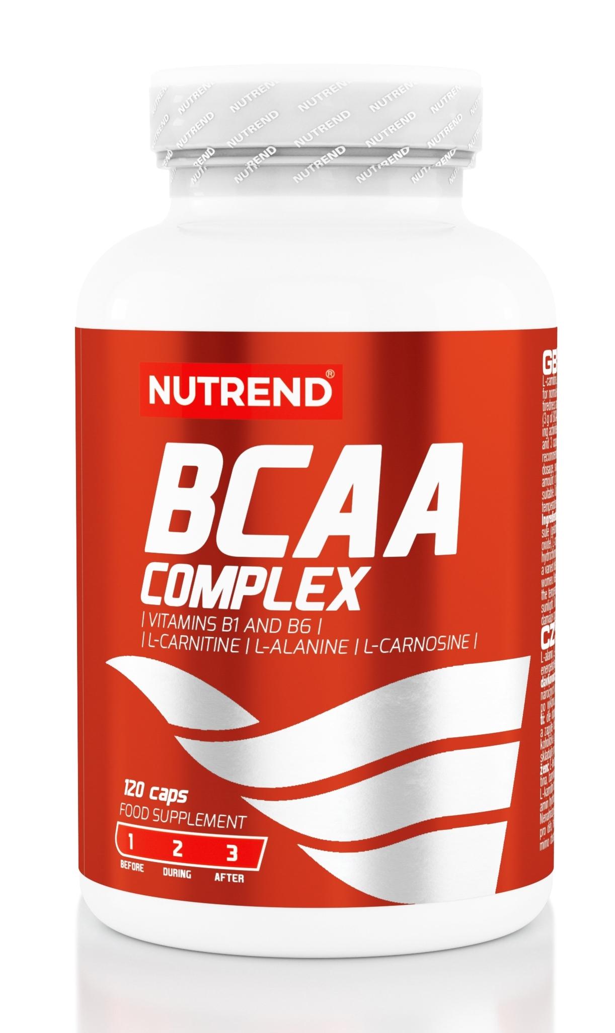 BCAA complex, obsahuje 120 kapslí