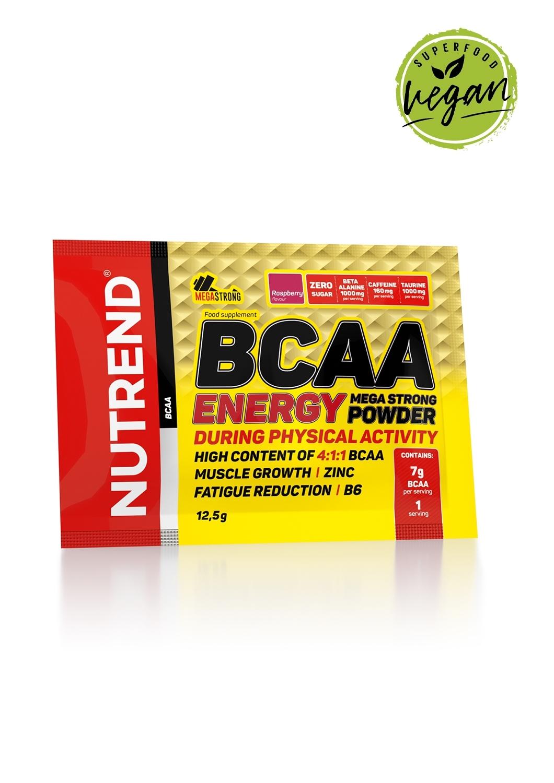 BCAA E. MEGA STRONG POWDER, 20x 12,5 g, malina