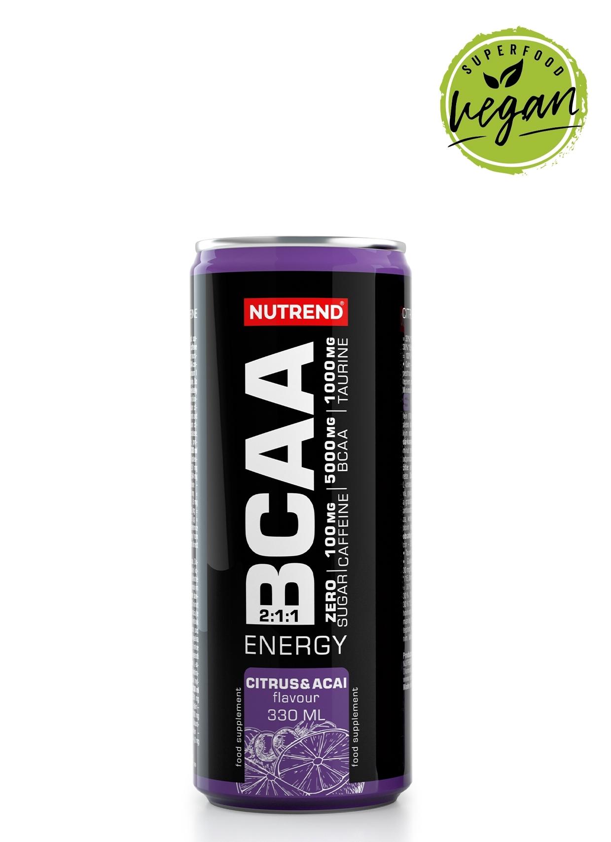 BCAA Energy, plechovka 330 ml, citrus a acai