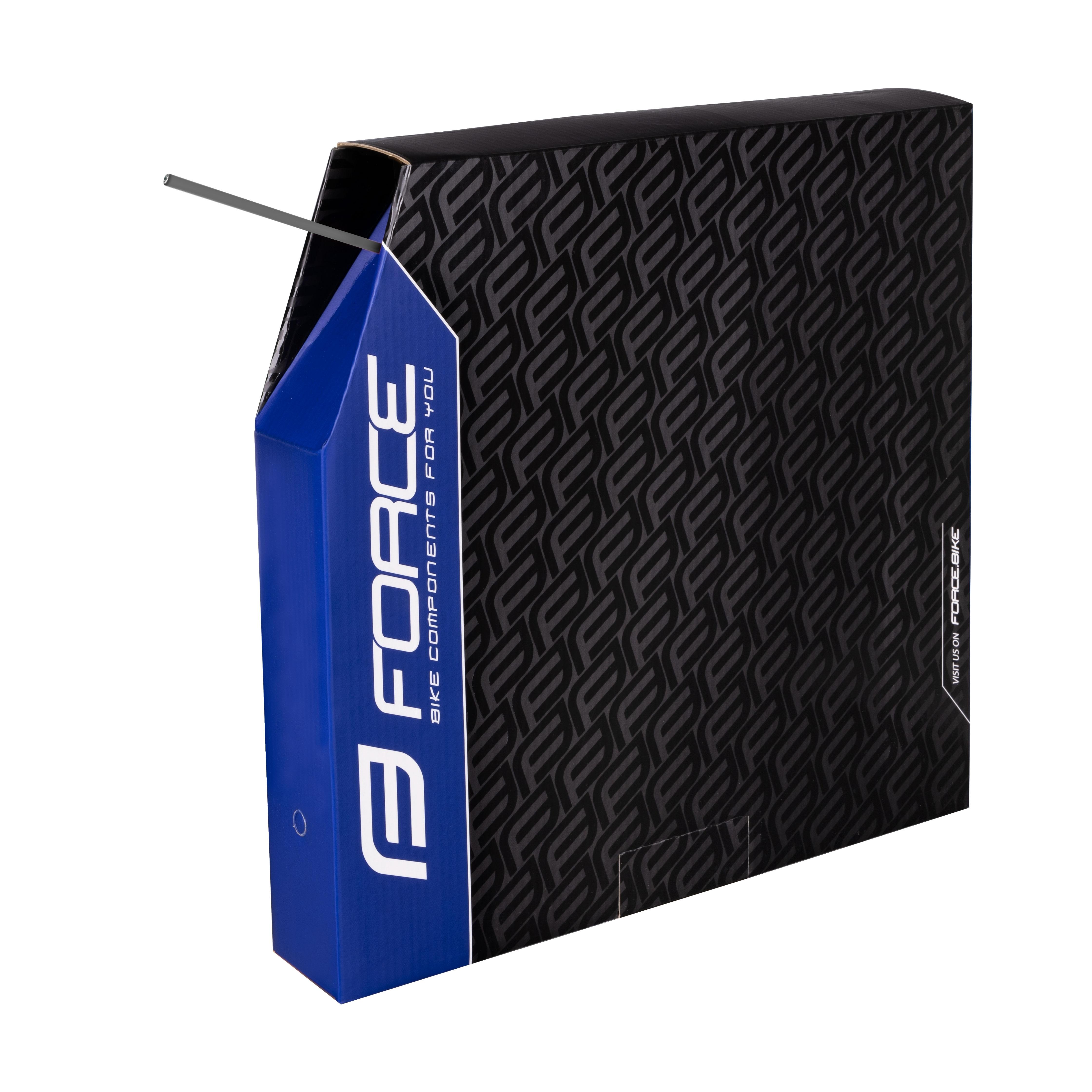 bowden brzdový FORCE 5mm,stříbrný 50m BOX