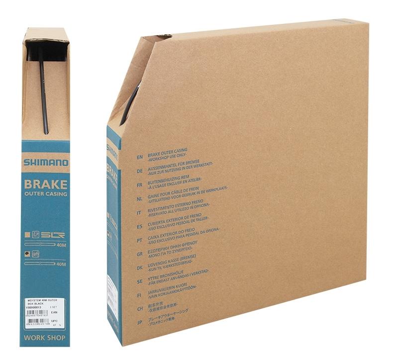 bowden brzdový SHIMANO 5mm, černý 40m BOX