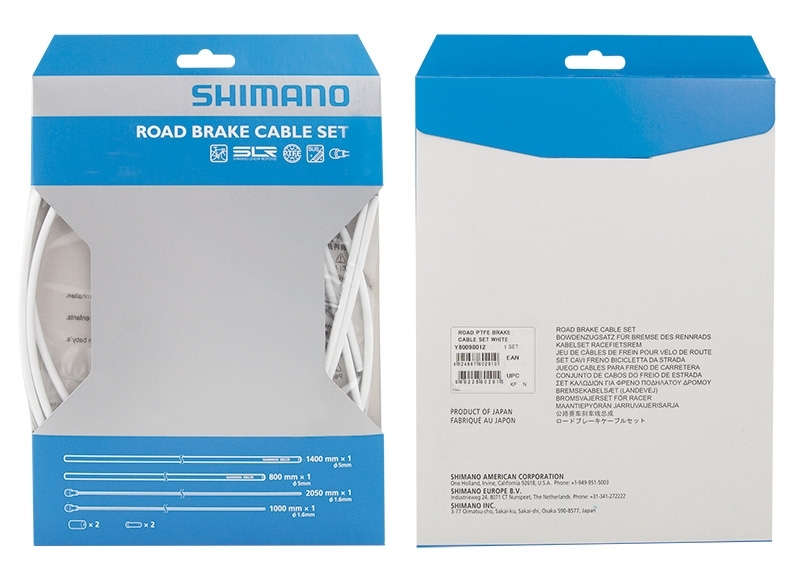 bowdeny+lanka brzdový set SH DA79 silniční, bílý