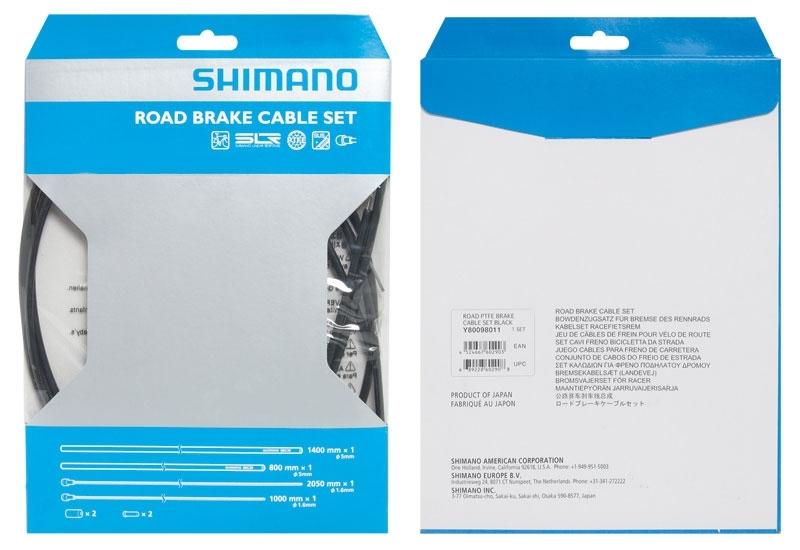 bowdeny+lanka brzdový set SH DA7900 silniční,černý