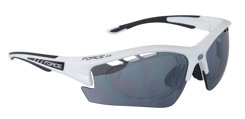 brýle FORCE RIDE PRO bílé diop.klip,črn las skla-AKCE