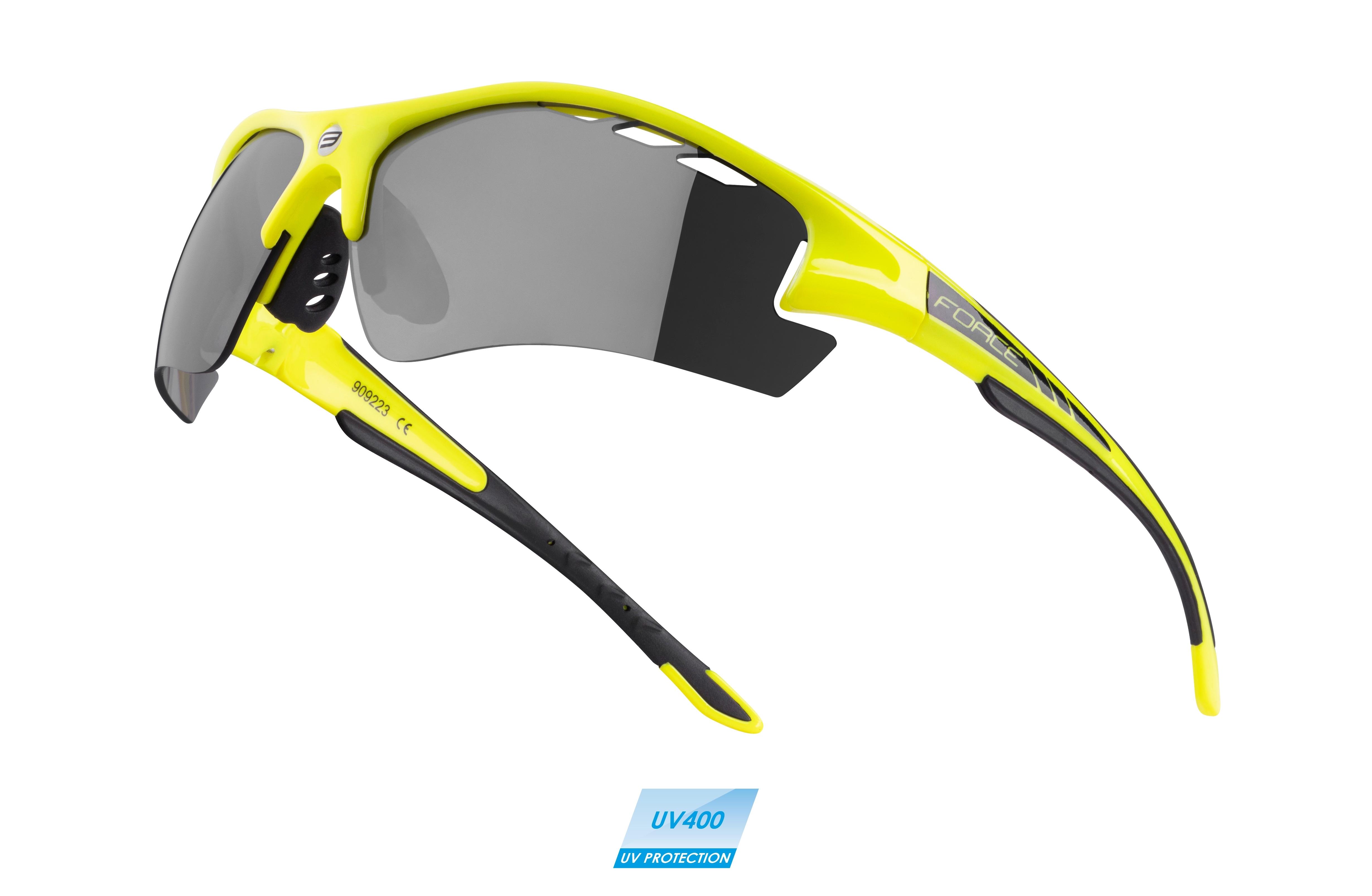 brýle FORCE RIDE PRO fluo diop.klip,černá laser skla