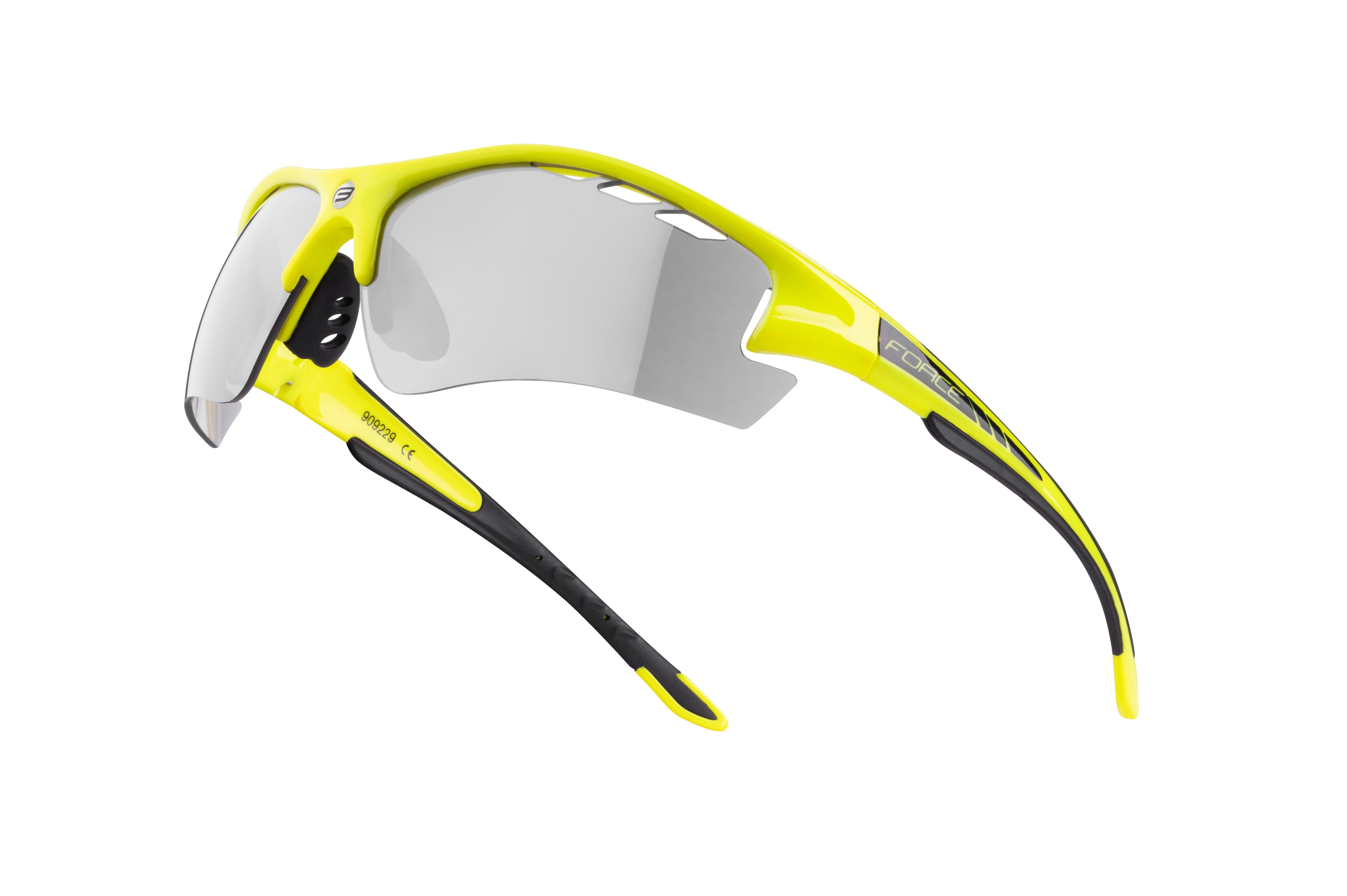 brýle F RIDE PRO fluo, diop.klip, fotochrom. skla