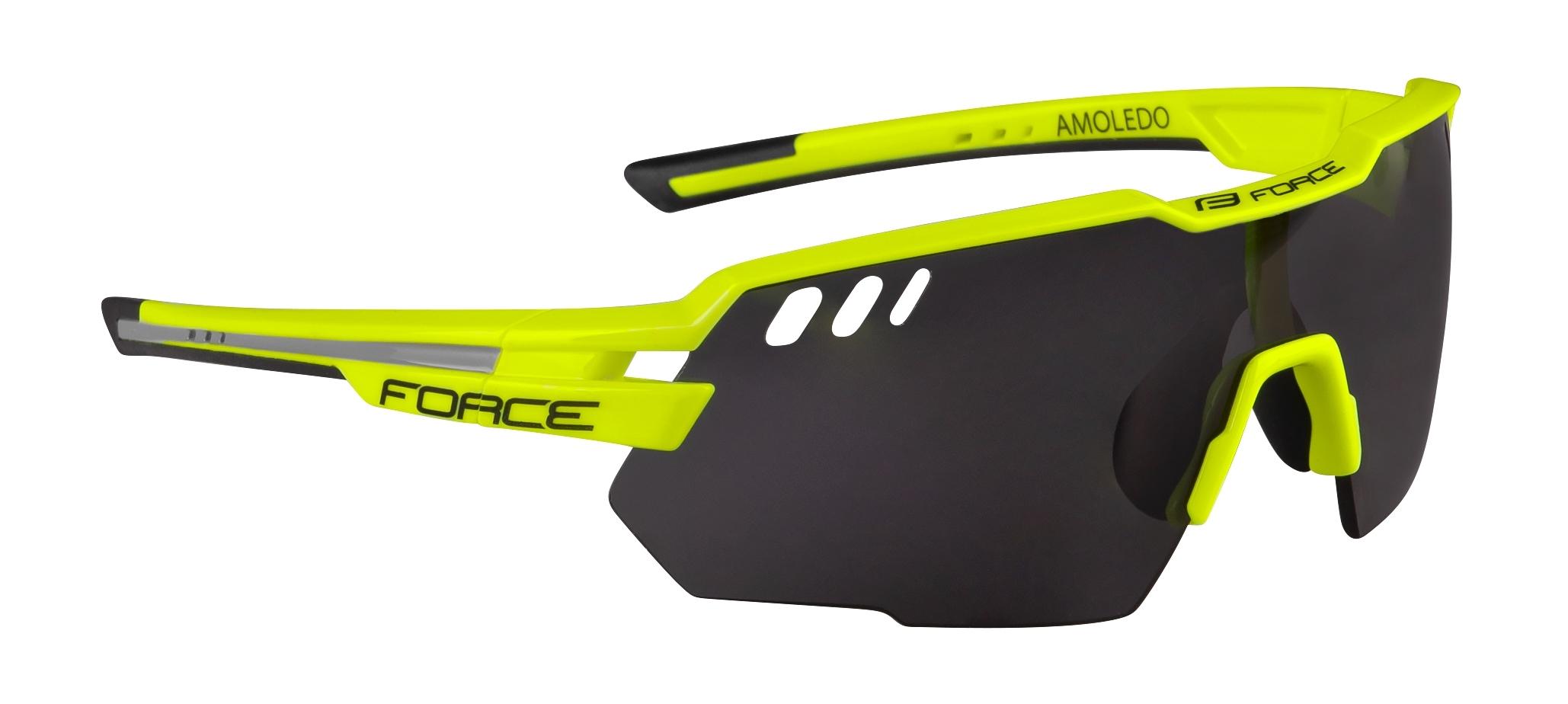 brýle FORCE AMOLEDO, fluo-šedé, černé skla
