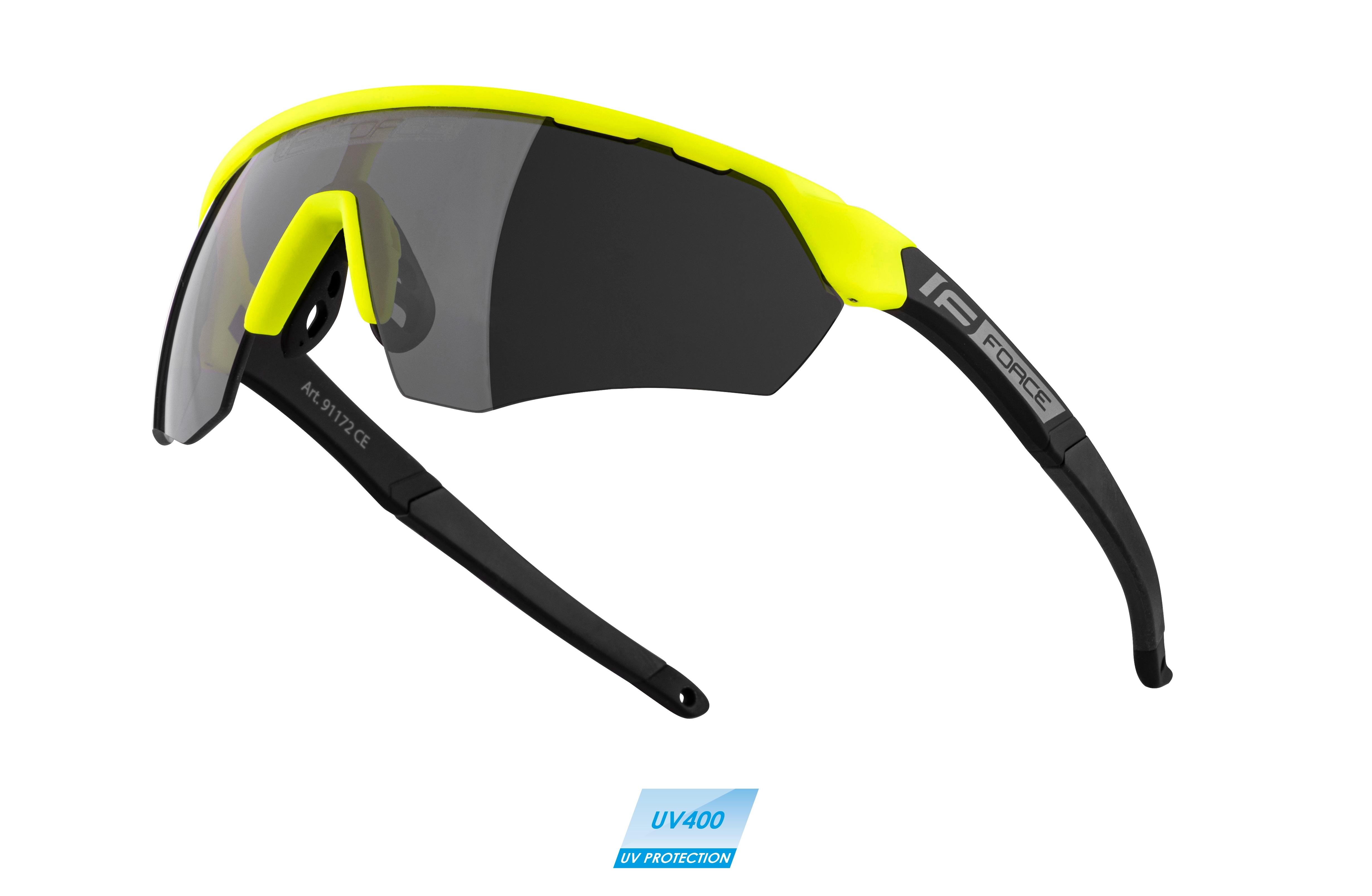 brýle FORCE ENIGMA fluo-černé mat., černá skla