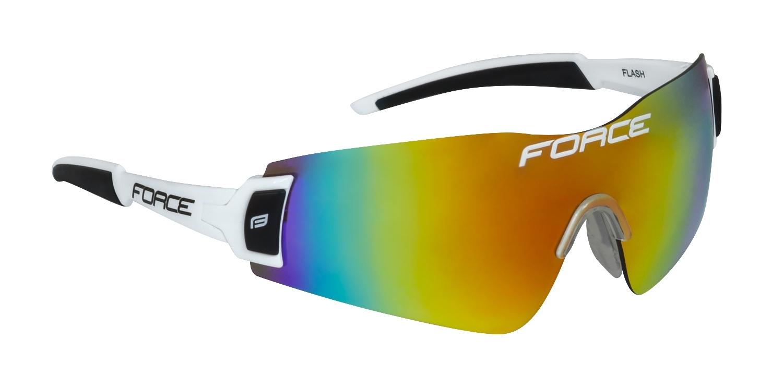 brýle FORCE FLASH, bílo-černé,červ.multilaser skla
