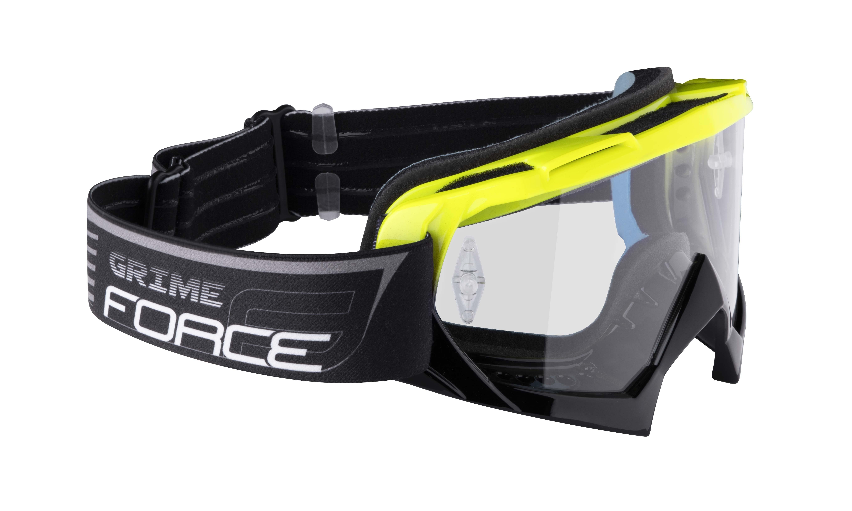 Brýle FORCE GRIME sjezdové černo-fluo, čiré sklo