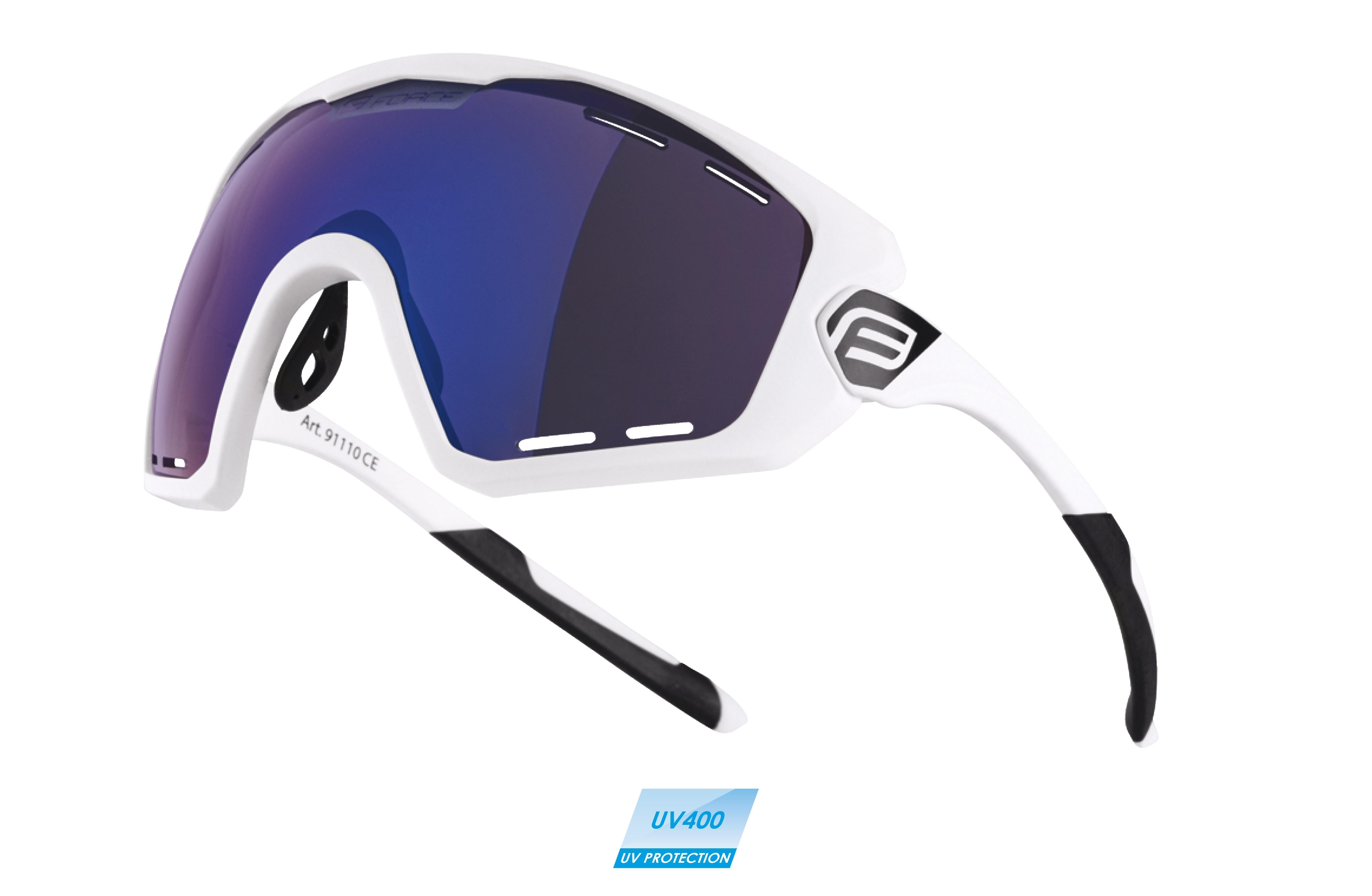 brýle FORCE OMBRO PLUS bílé mat., modrá skla
