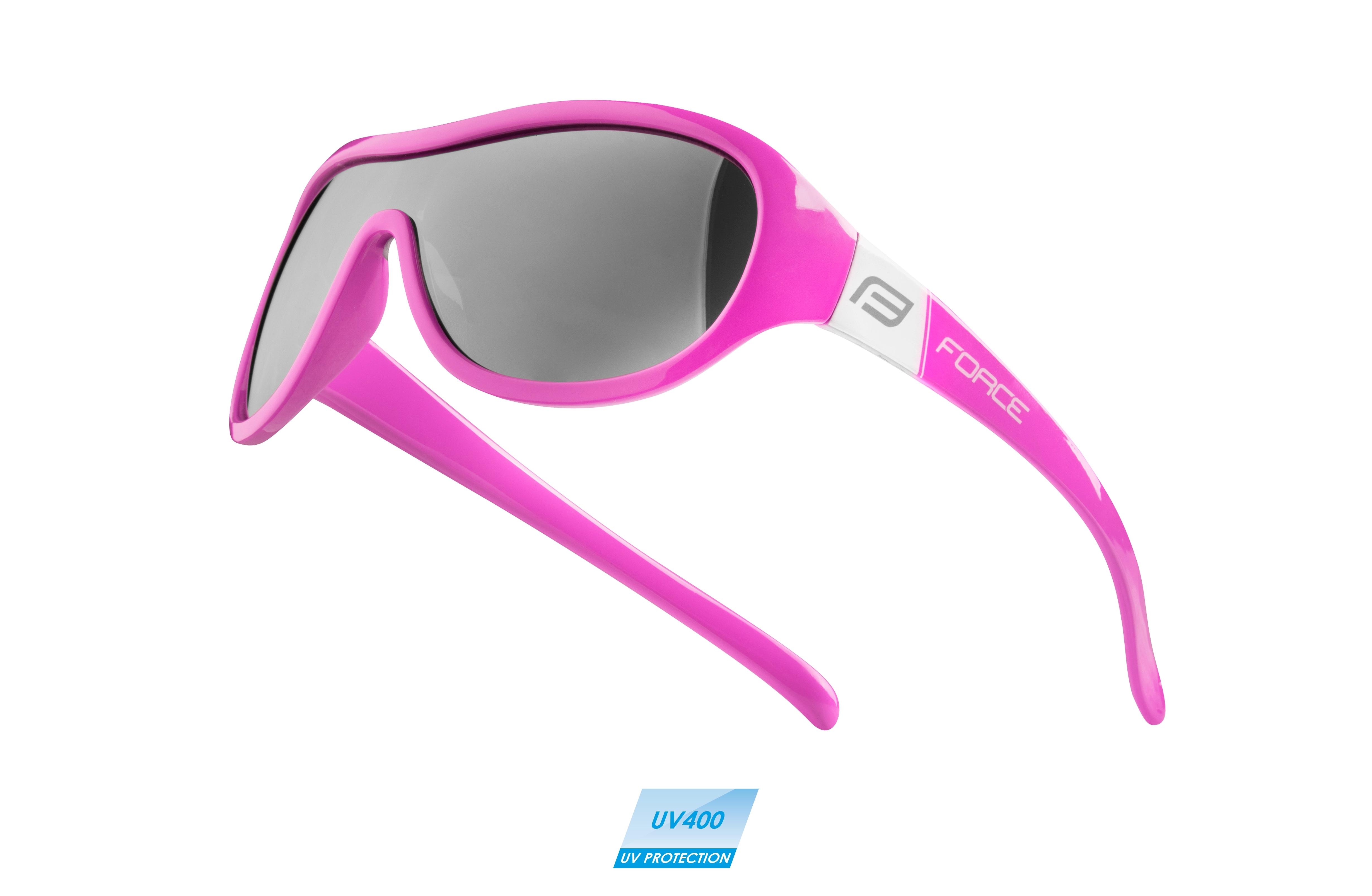 brýle FORCE POKEY dětské, růžovo-bílé, černá skla
