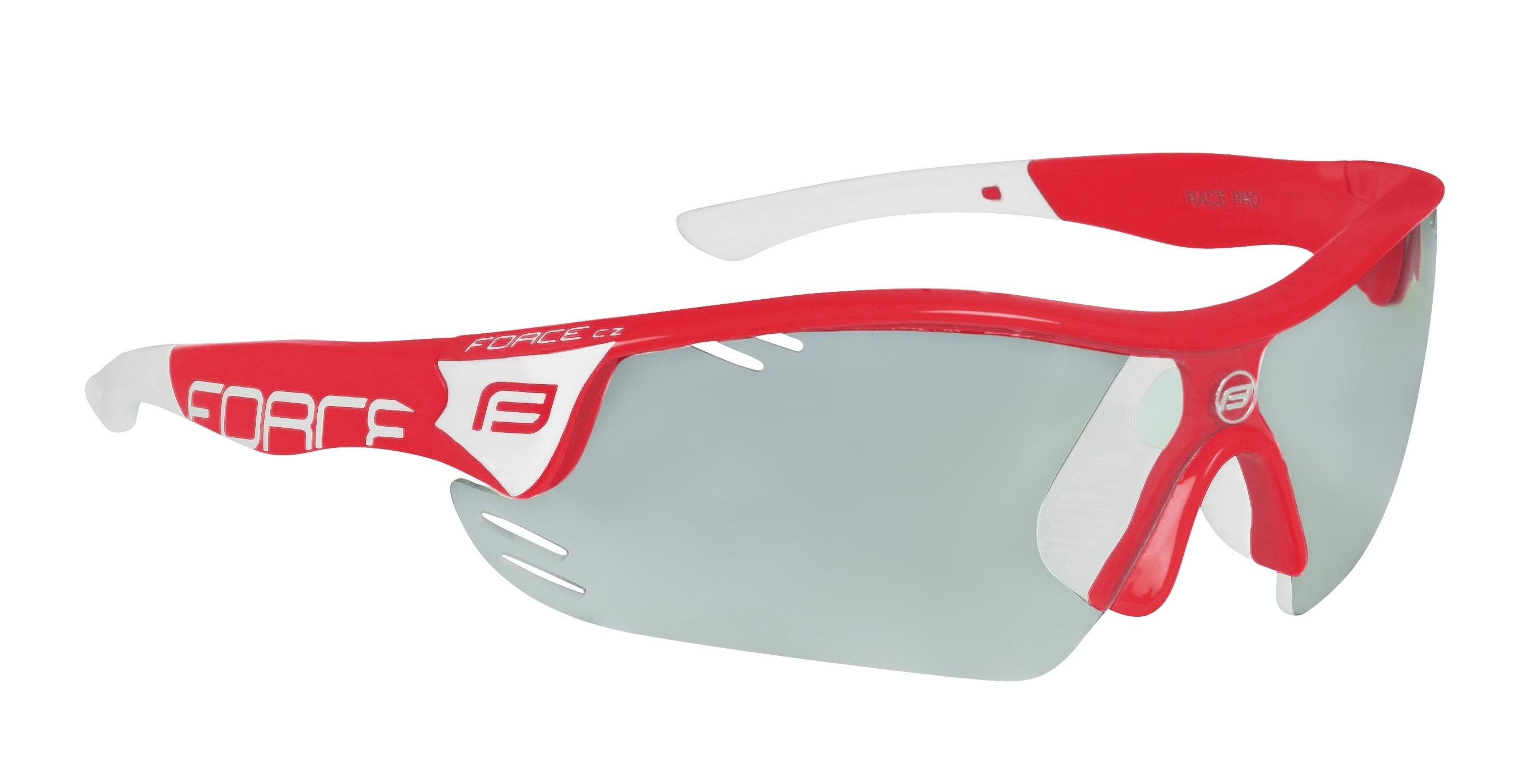 brýle FORCE RACE PRO červeno-bílé, fotochromatická