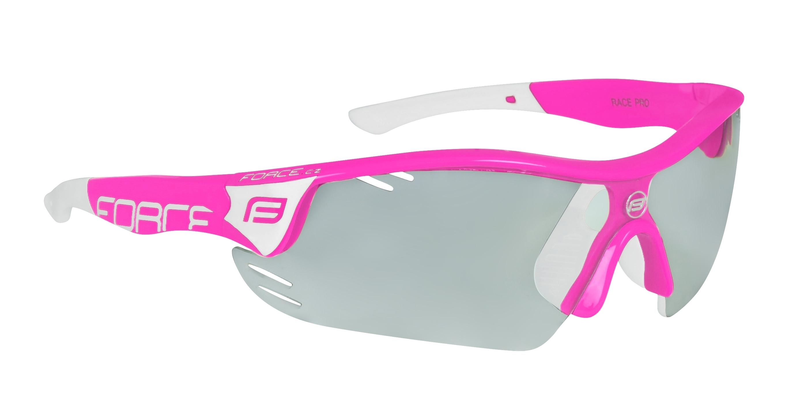 brýle FORCE RACE PRO růžovo-bílé, fotochromatická