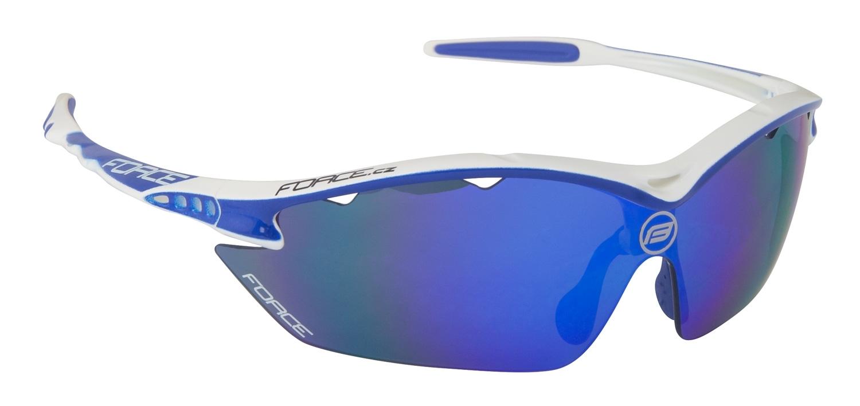 brýle FORCE RON bílo-modré, modrá laser skla