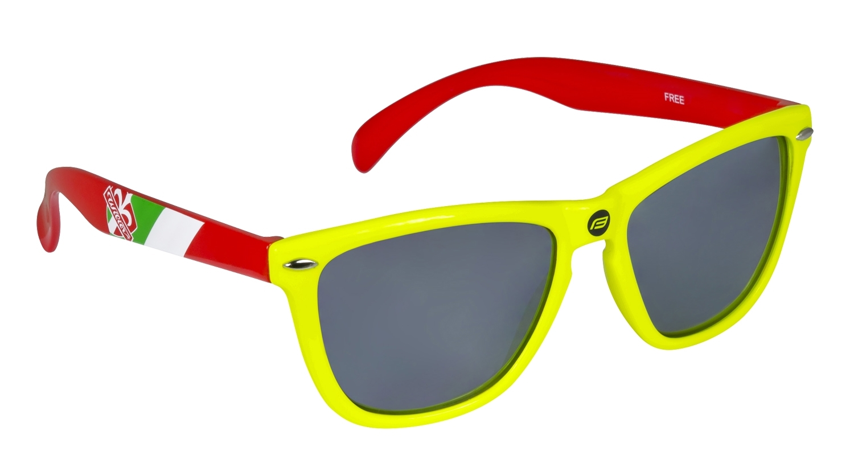 brýle FORCE WILIER FREE fluo, černá laser skla