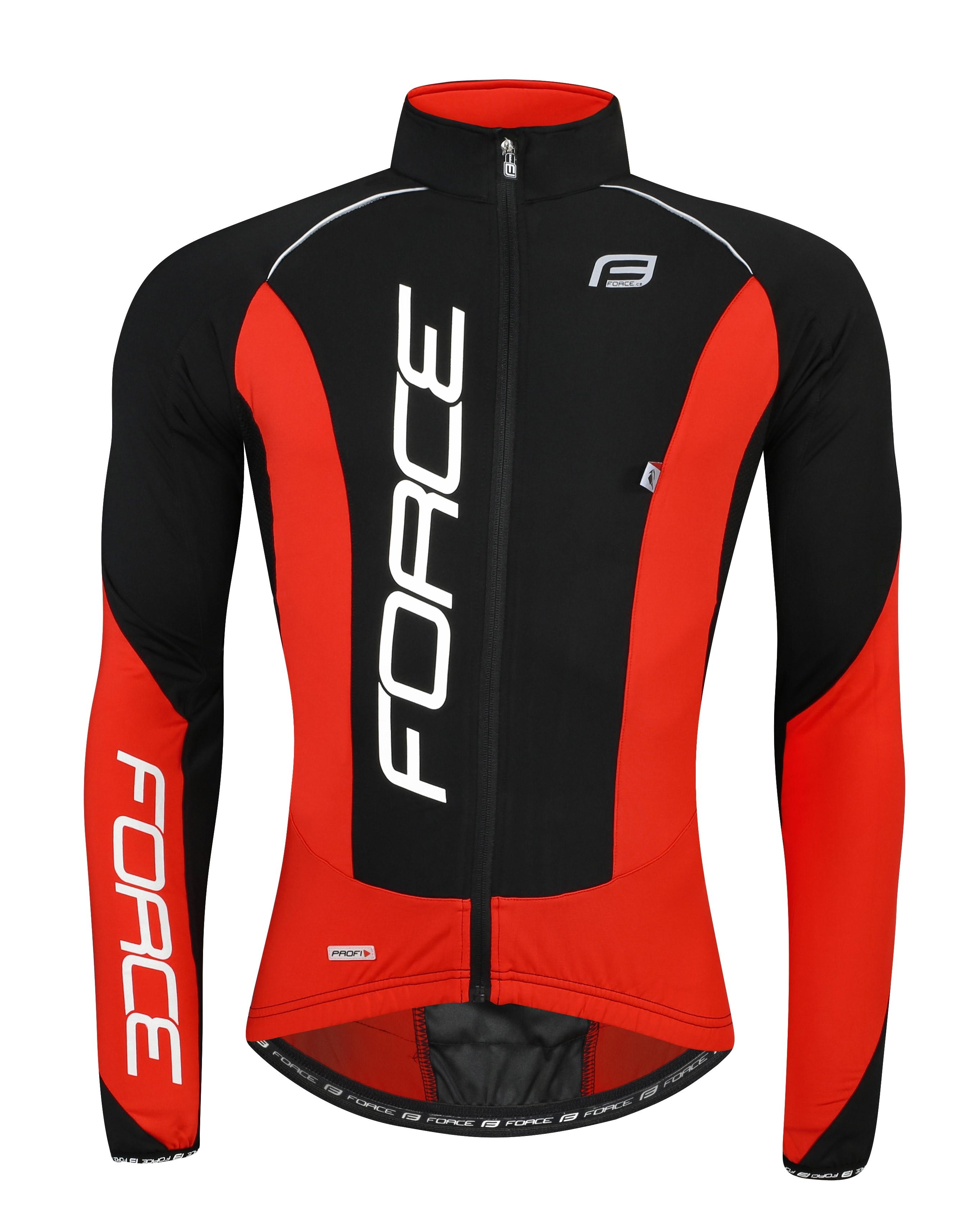 bunda/dres FORCE dlouhý rukáv X68 PRO,černo-červená M