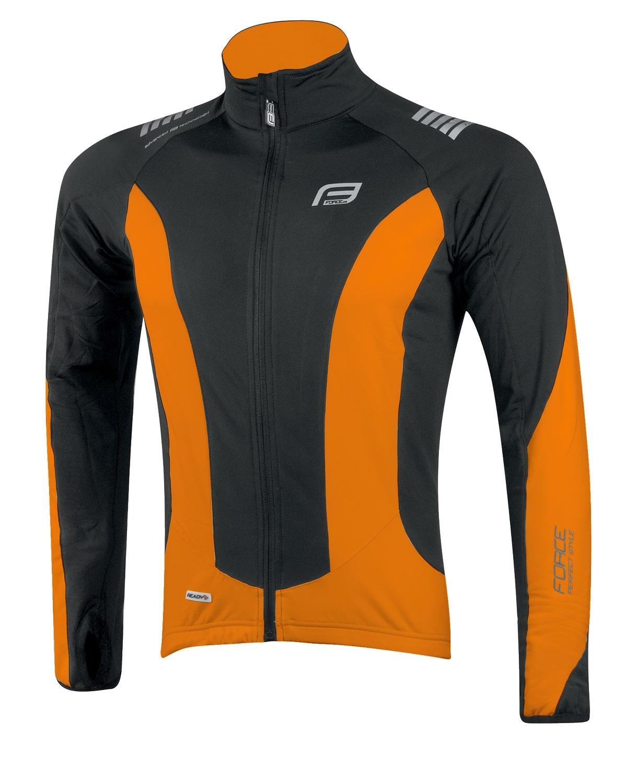 bunda/dres FORCE dlouhý rukáv X68,černo-oranžová L