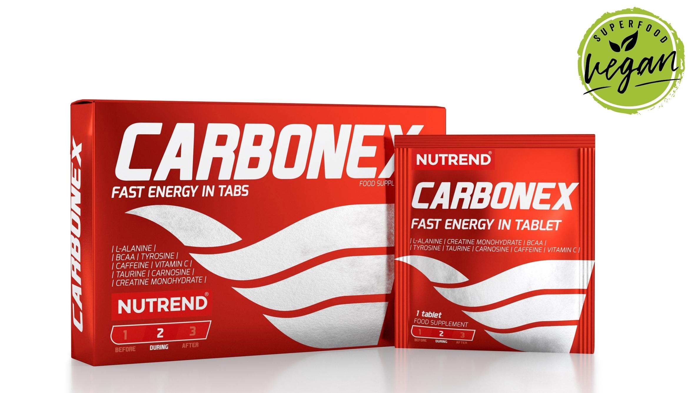 CARBONEX energy sport tablets, obsahuje 12 tablet