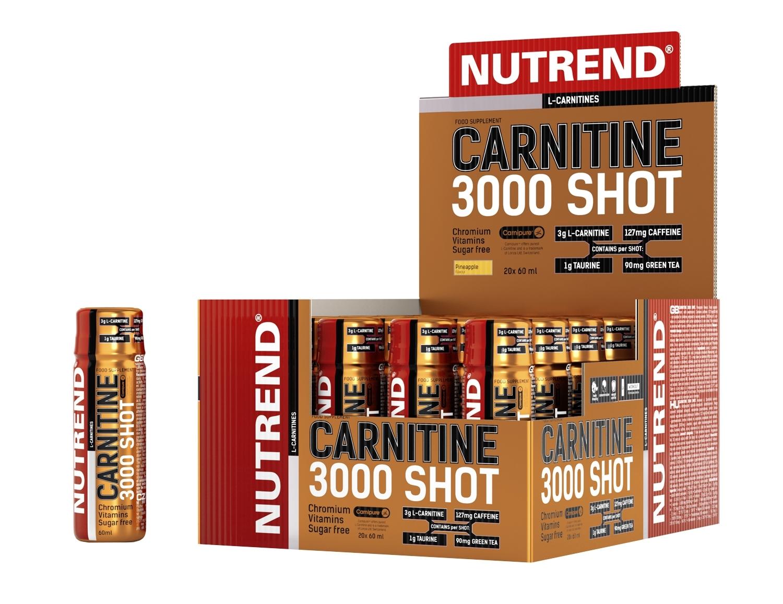 CARNITINE 3000 SHOT,box-20 lahviček á 60ml, ananas