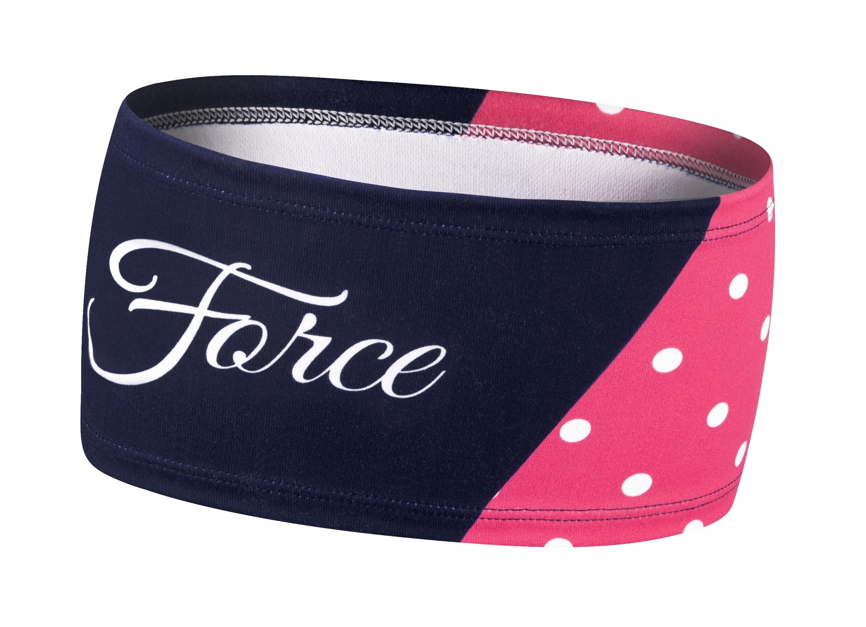 čelenka FORCE FIT POINTS sportovní, růž-mod UNI