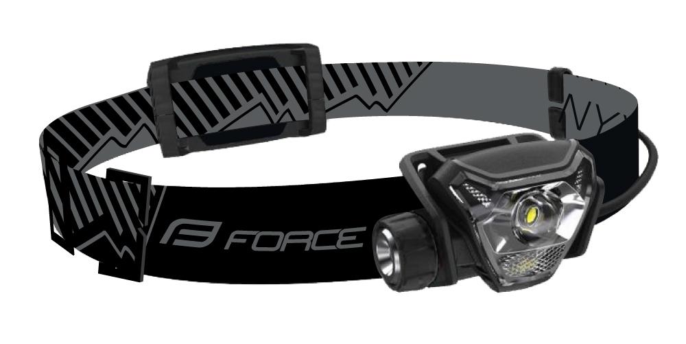 čelovka FORCE NYX 500LM USB, černá