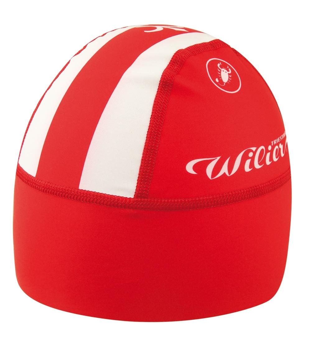 čepice WILIER TERMO pod helmu, červená uni vel.