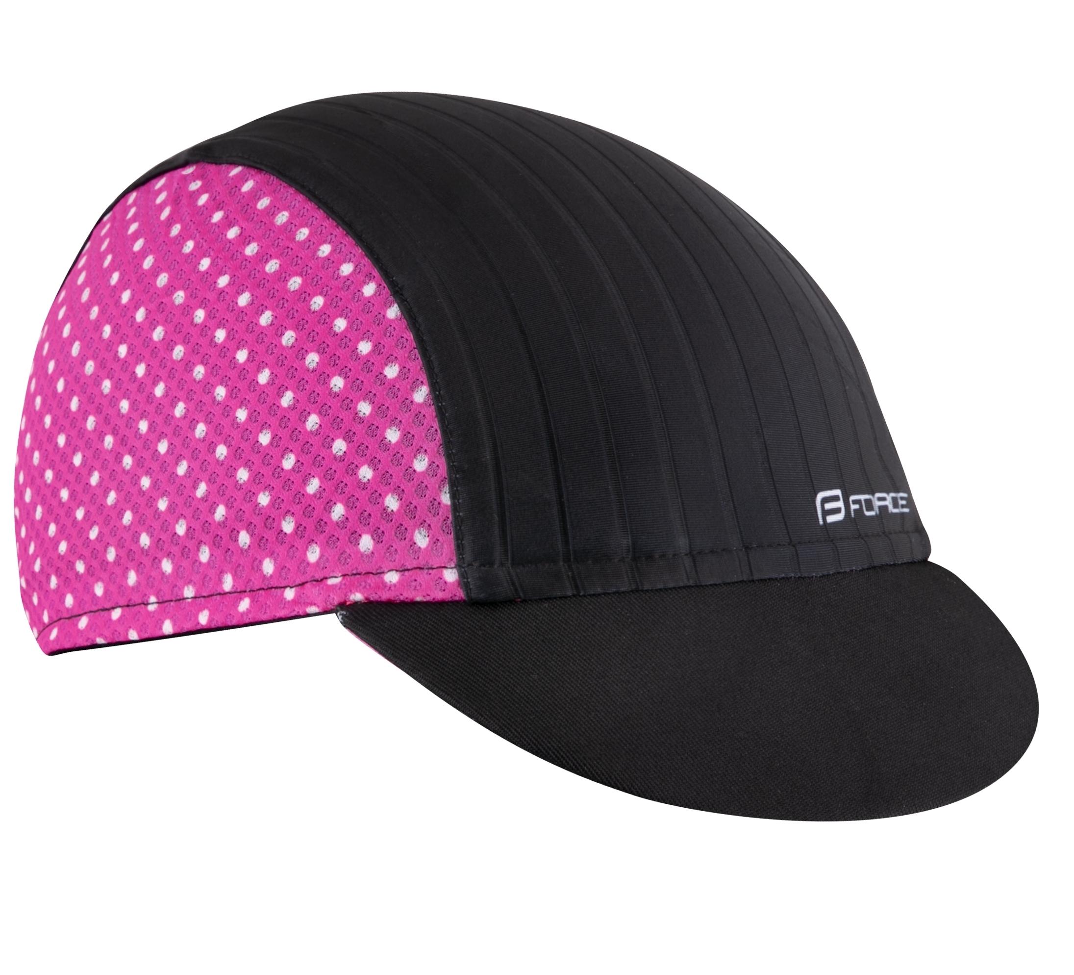 čepička s kšiltem F POINTS letní,černo-růžová L-XL
