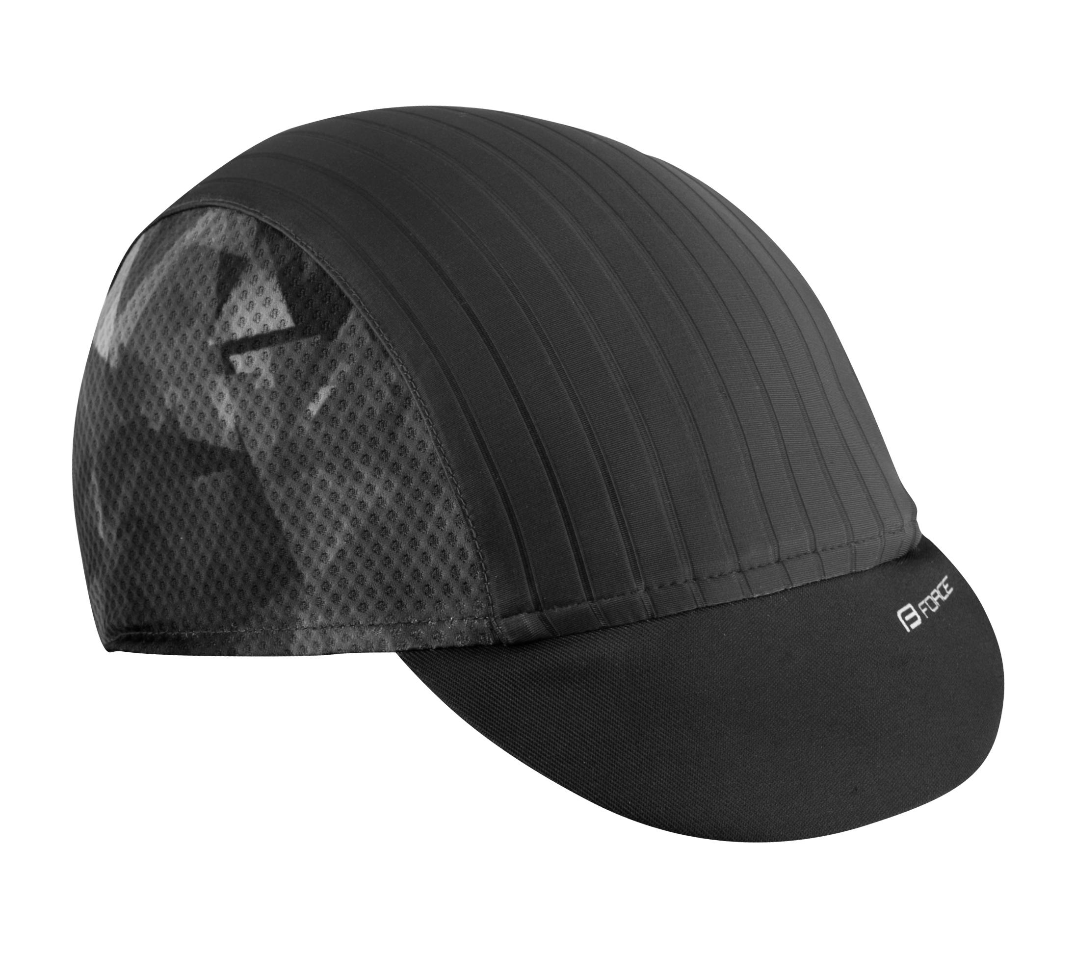čepička s kšiltem FORCE CORE letní,černo-šedá L-XL