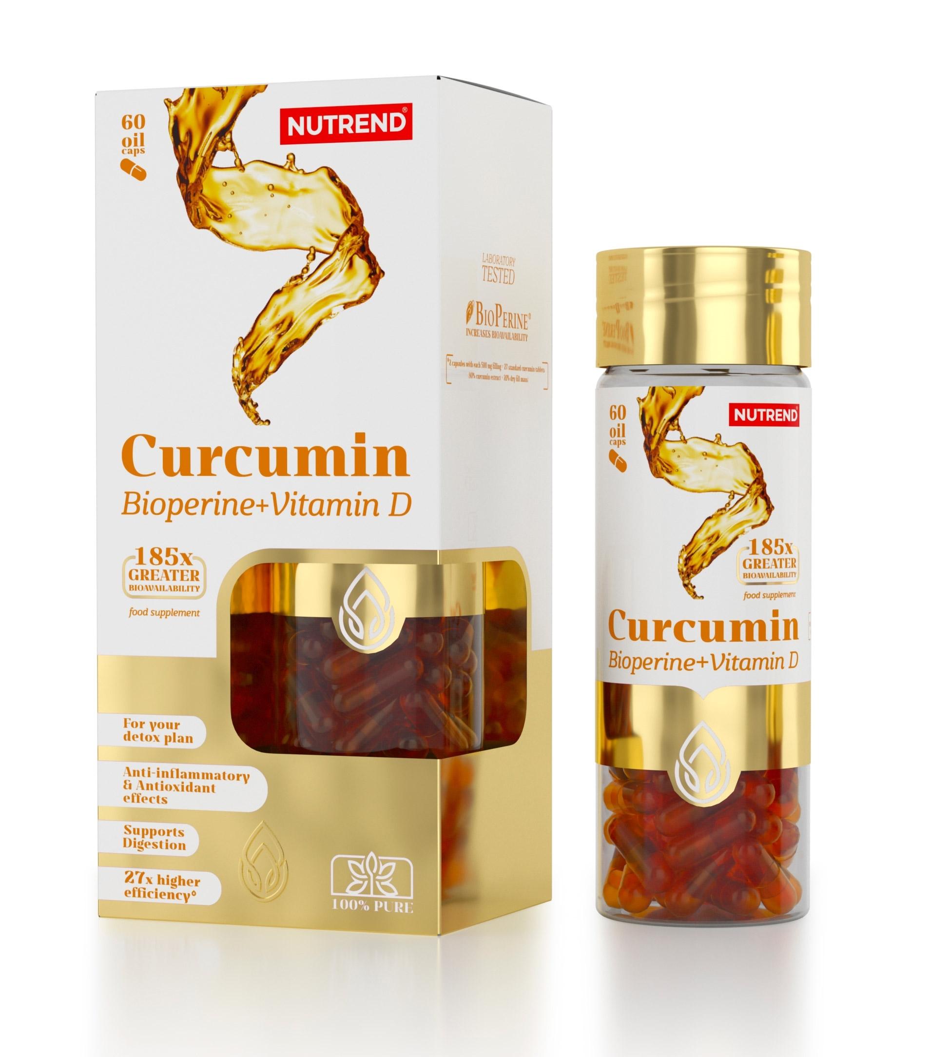 CURCUMIN+BIOPERINE+VITAMIN D, 60 kapslí