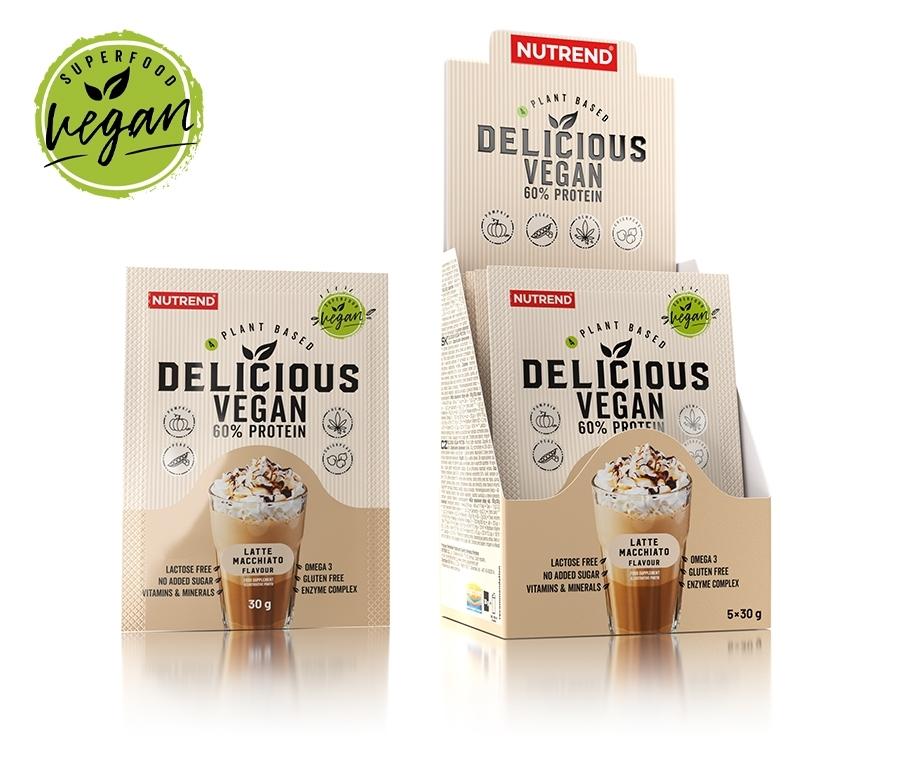 DELICIOUS VEGAN PROTEIN 5x30 g latte macchiato