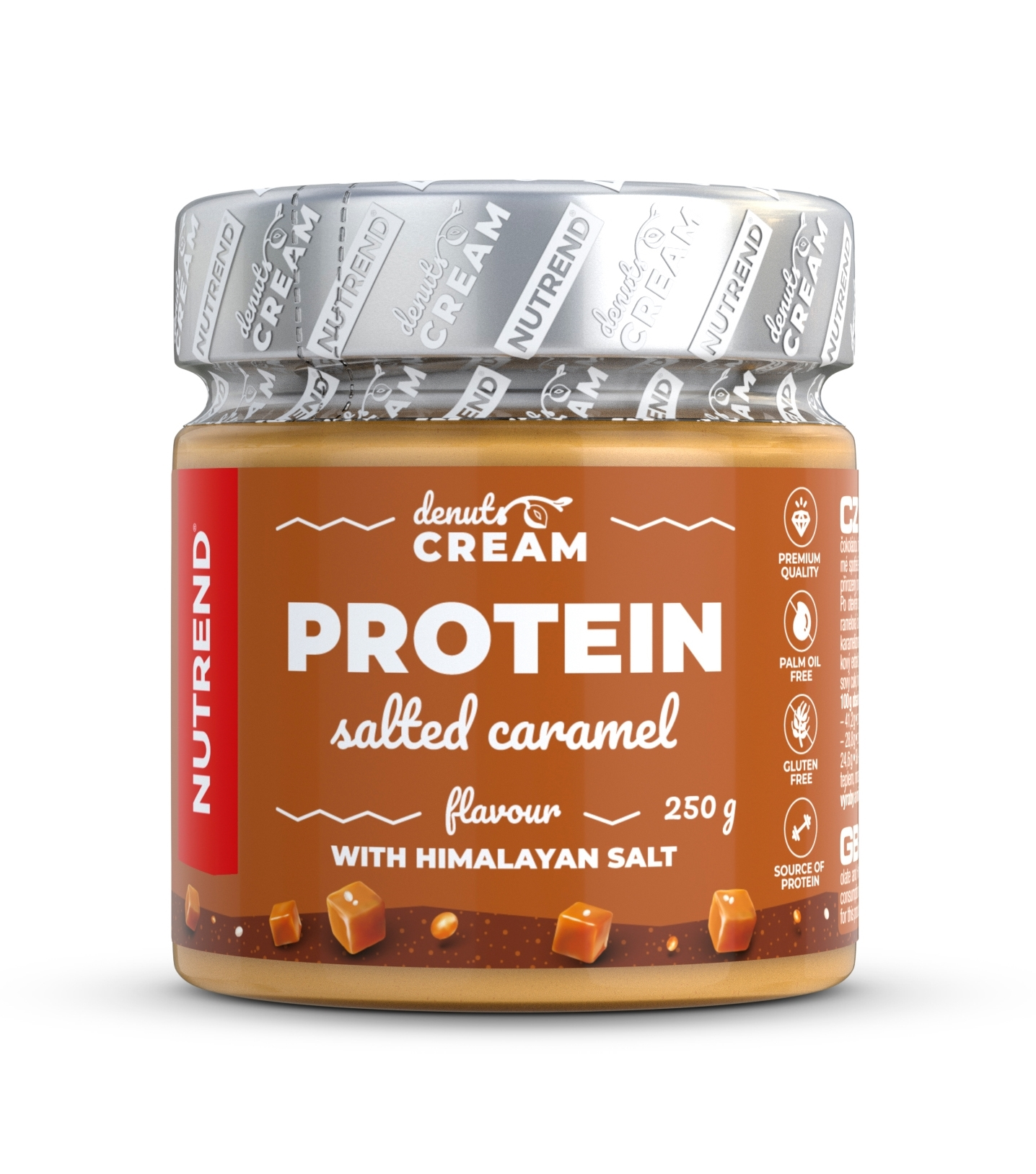 DENUTS CREAM 250 g, slaný karamel s proteinem