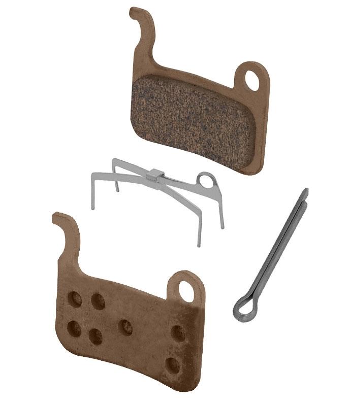 destičky brzd SH M06 kovové,s pružinou+závlačka