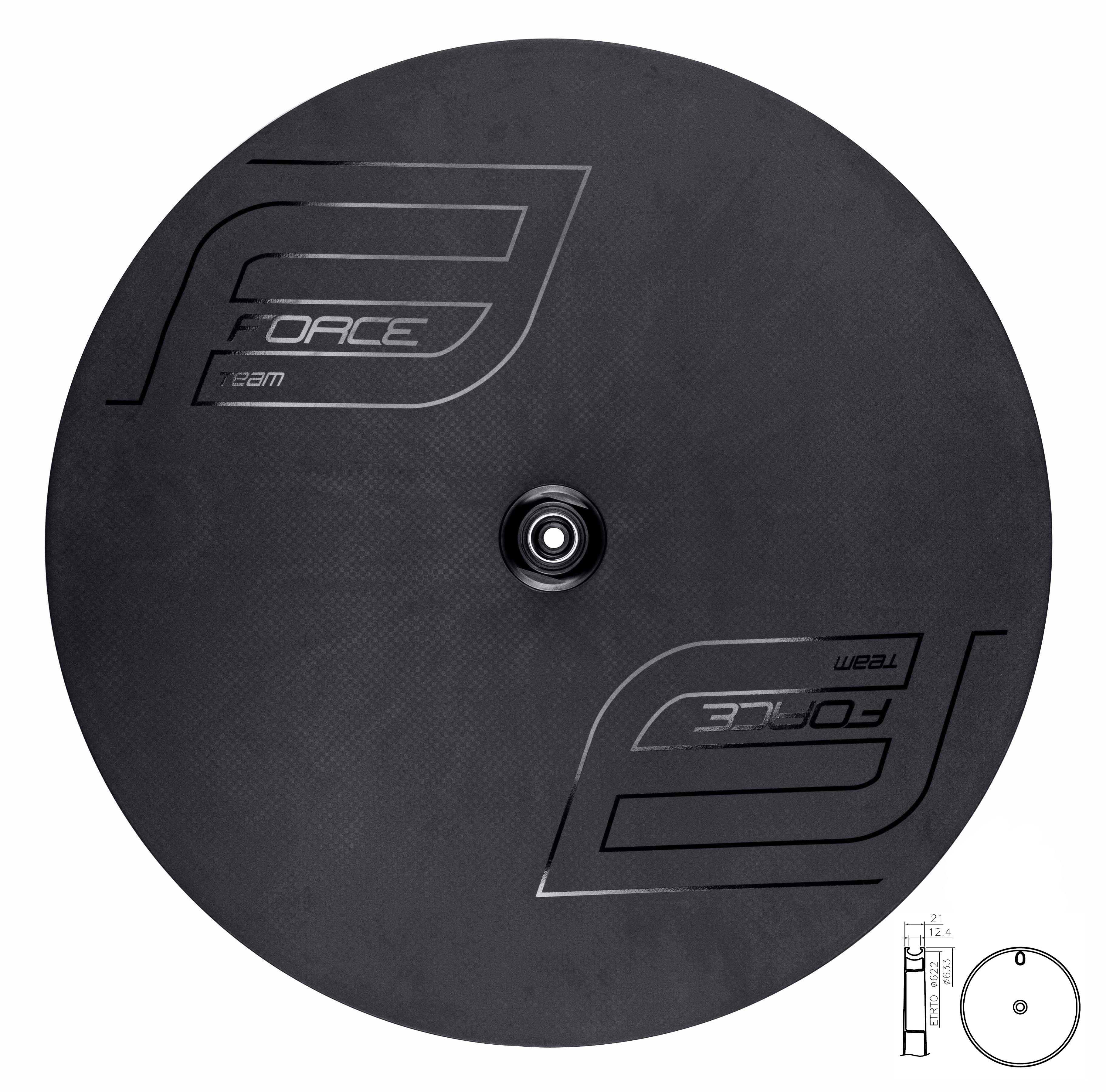 disk FORCE zadní plášťový karb. pro disk.brzdu