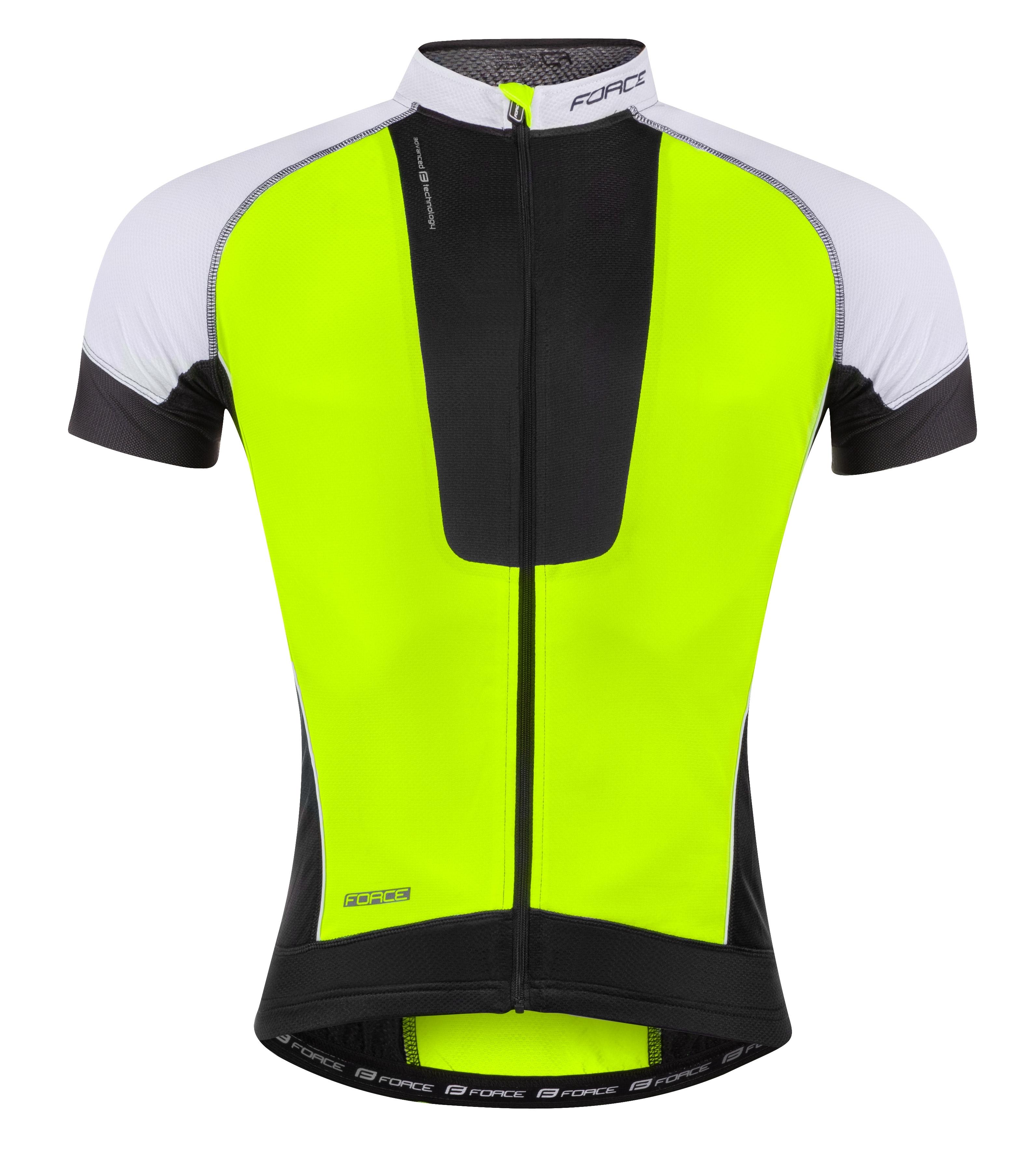 dres FORCE AIR krátký rukáv černo-fluo-bílý XS