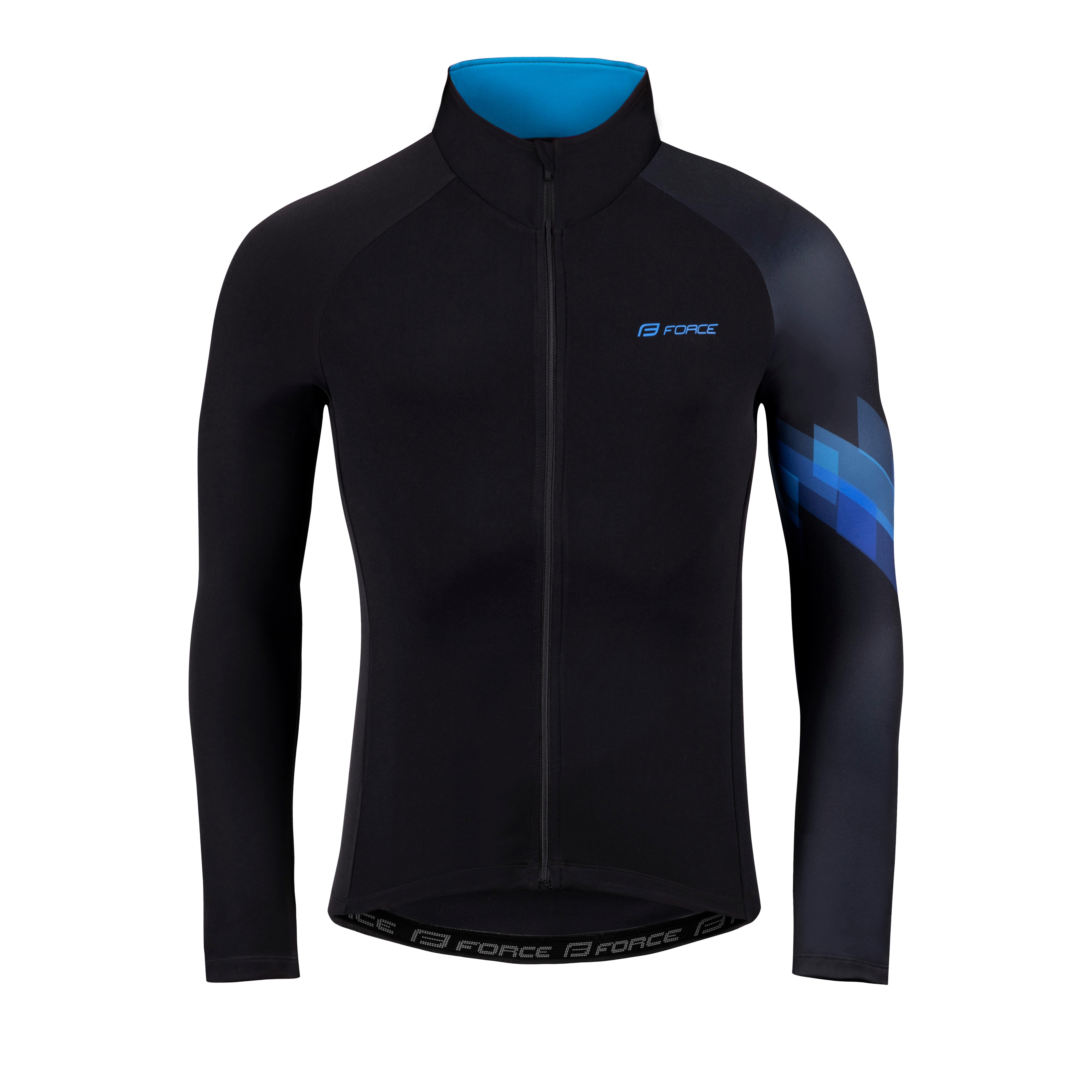 dres FORCE RIDGE dlouhý rukáv, černo-modrý XL