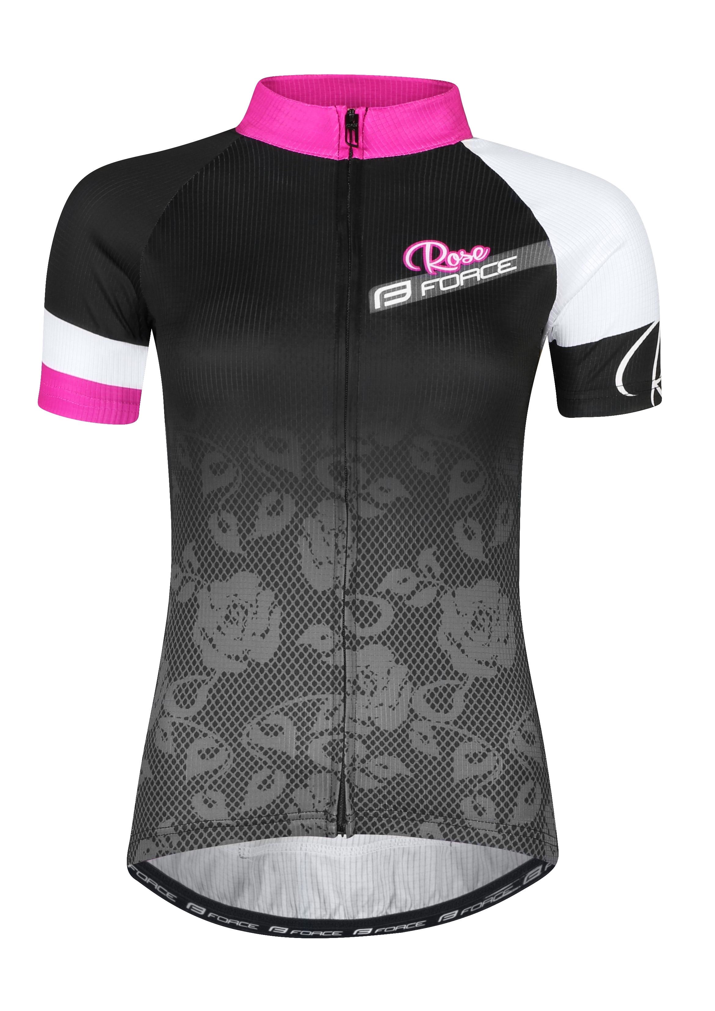 dres FORCE ROSE LADY kr. rukáv, černo-růžový XXL