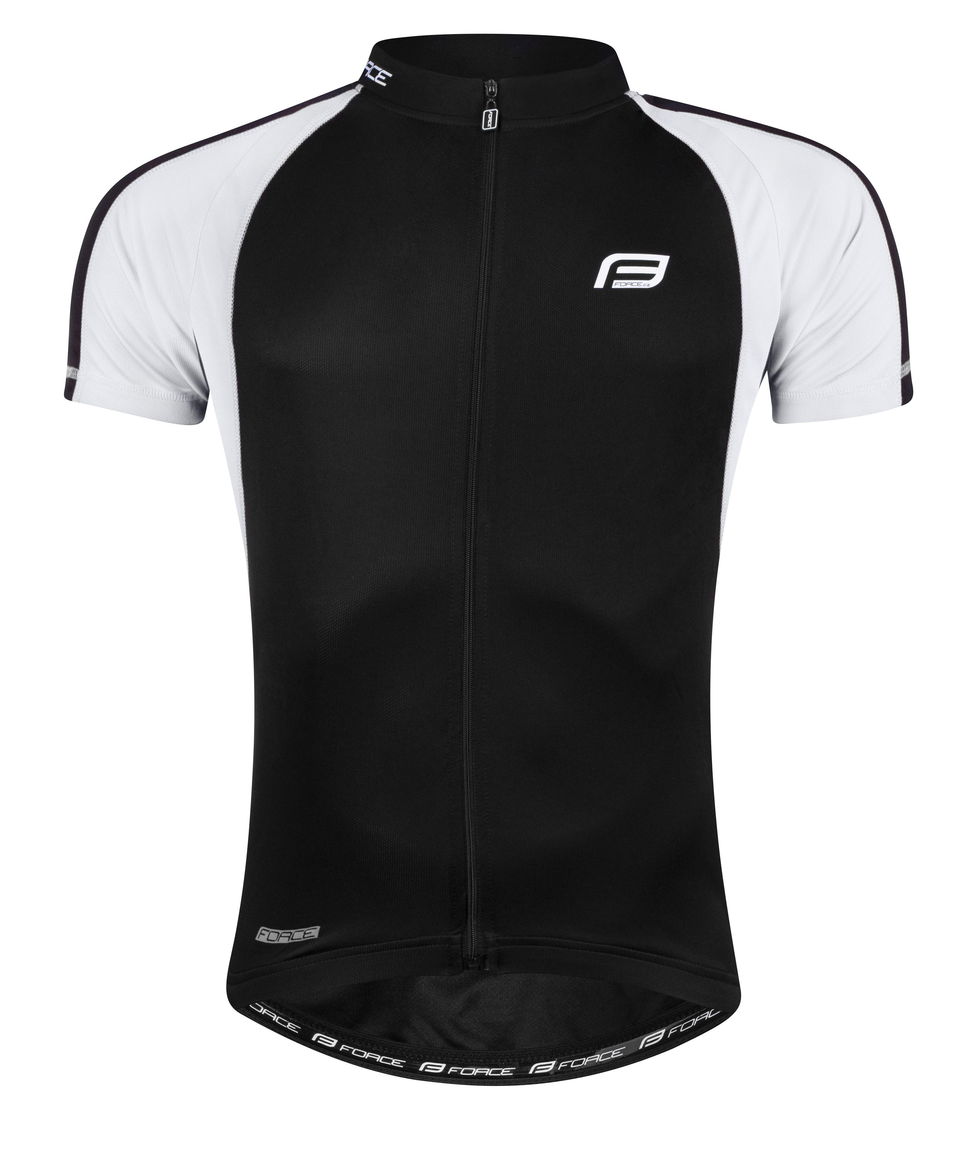 dres FORCE T10  krátký rukáv, černo-bílý L