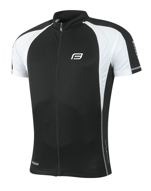 dres FORCE T10  krátký rukáv, černo-bílý M