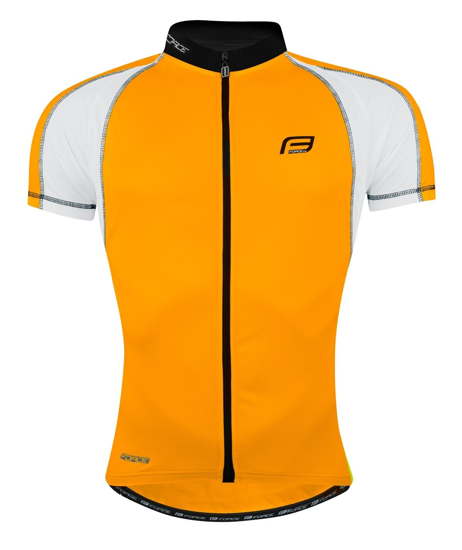 dres FORCE T10 krátký rukáv, oranžovo-bílý M