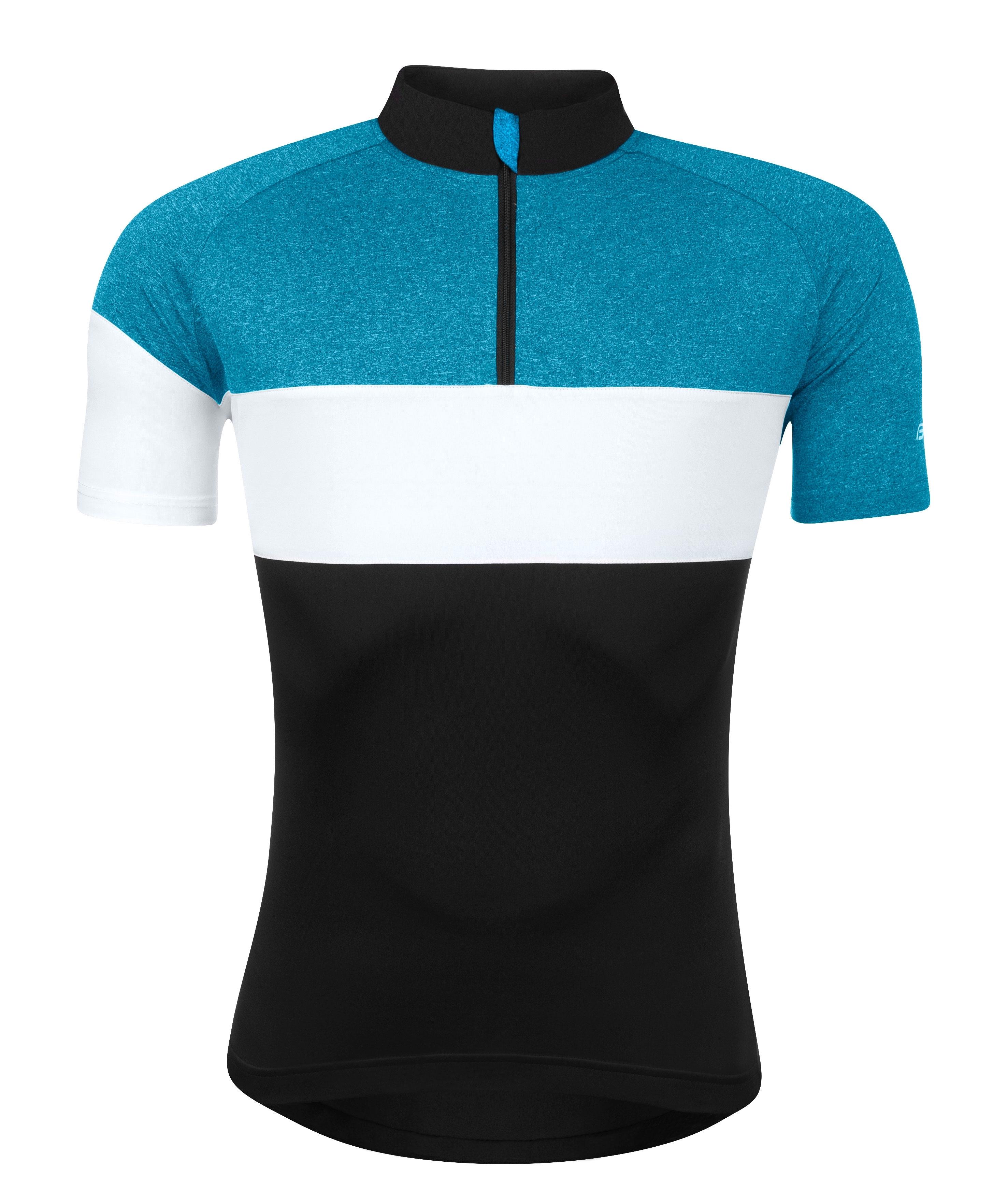 dres FORCE VIEW krátký rukáv,černo-modro-bílý M