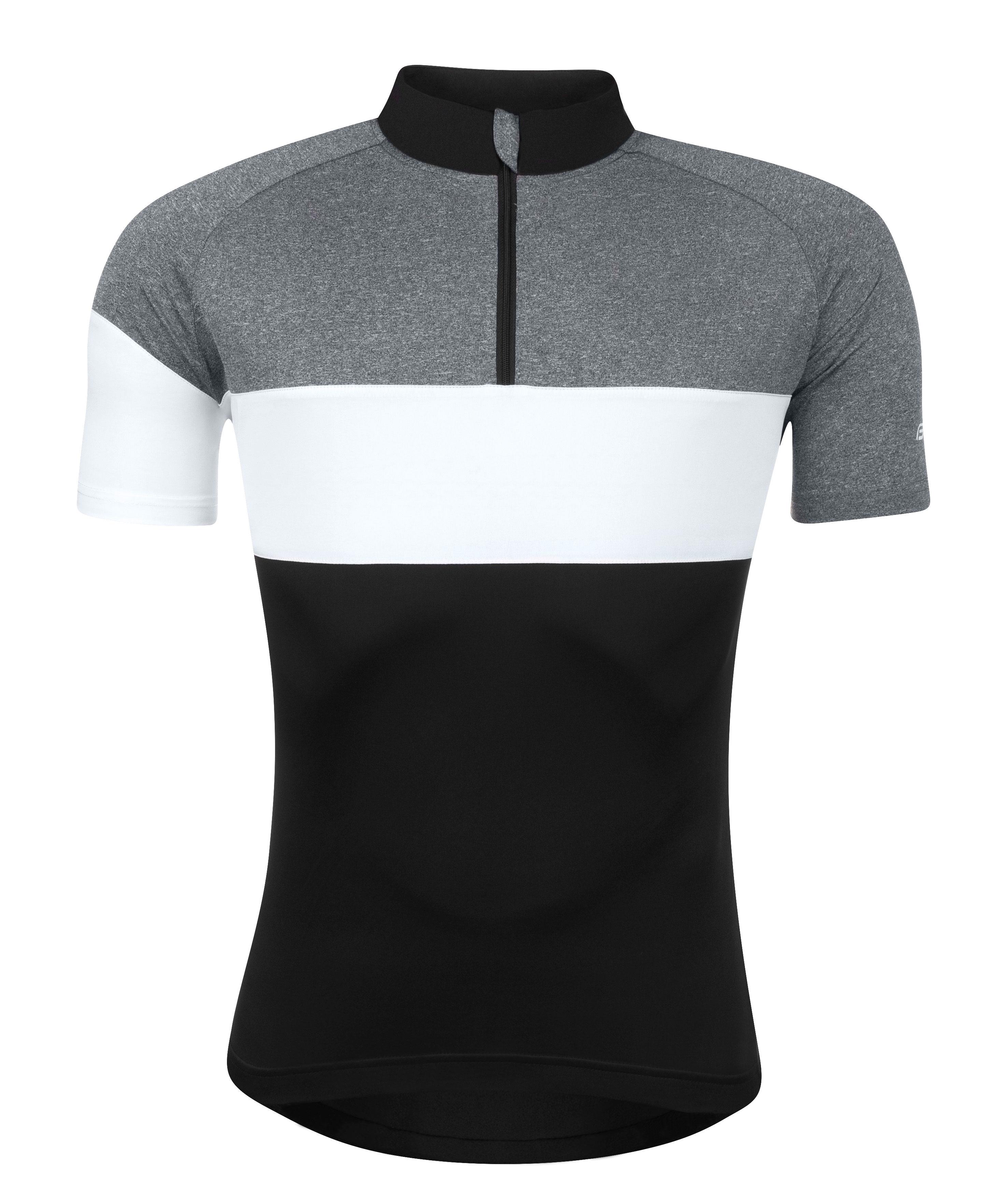 dres FORCE VIEW krátký rukáv,černo-šedo-bílý L