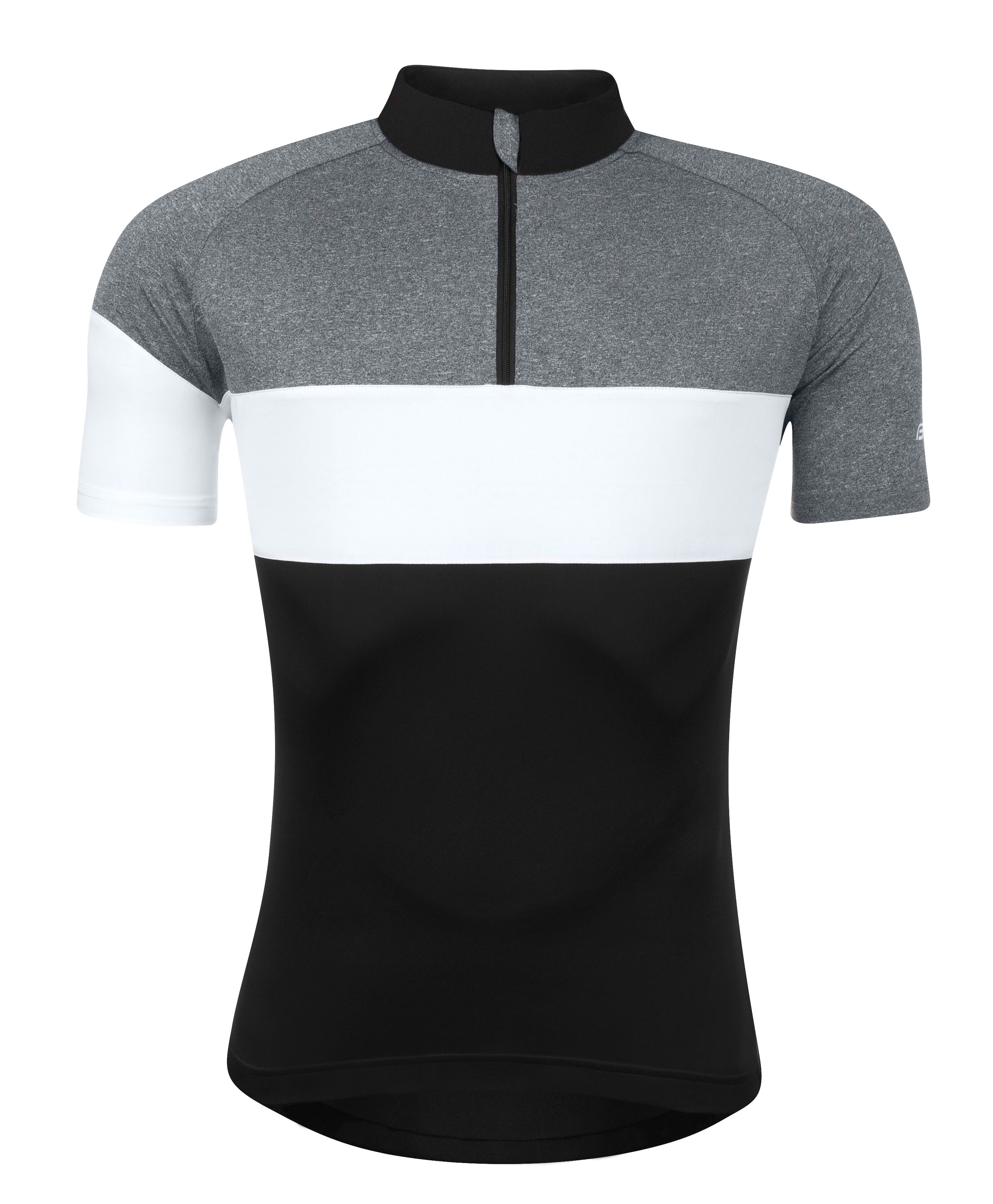 dres FORCE VIEW krátký rukáv,černo-šedo-bílý M