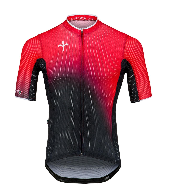 dres  krátký rukáv WILIER LIMITED červeno-černý S
