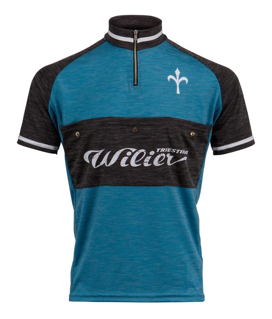 dres WILIER TASCA RETRO krátký rukáv, modrý XL