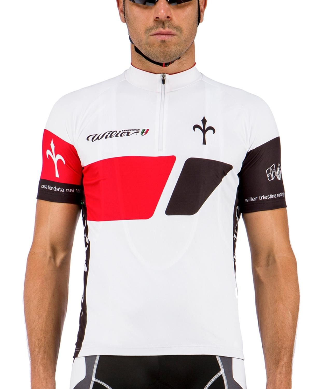 dres WILIER VINTAGE krátký rukáv, bílo-červený XL