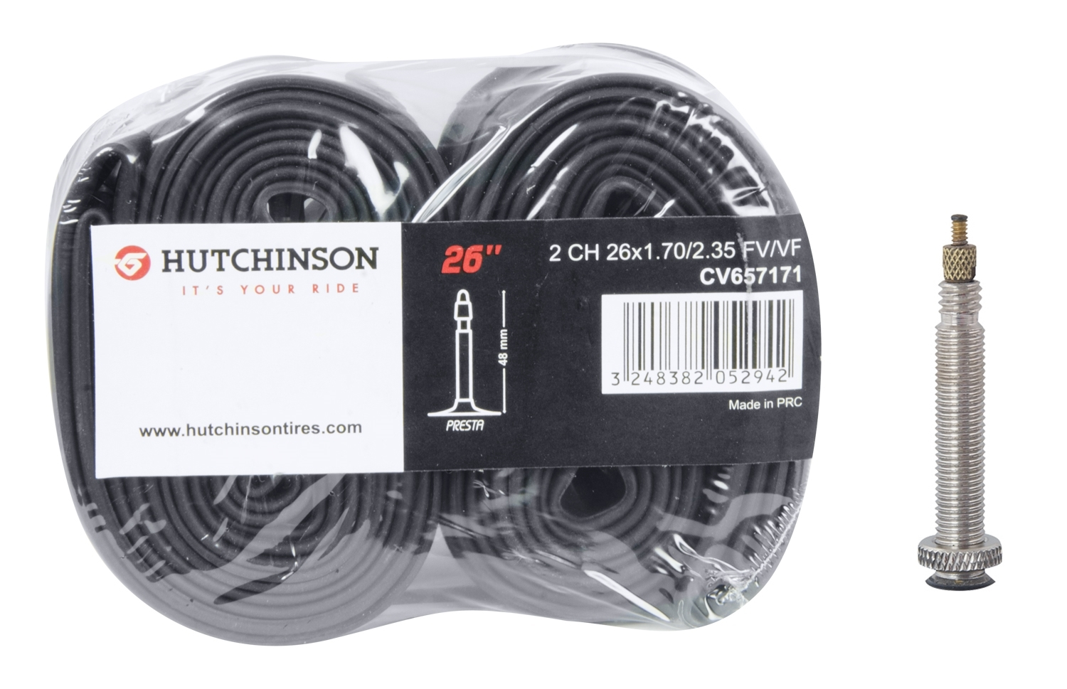 duše HUTCHINSON 26x1,7/ 2,35 FV 48mm, 2ks