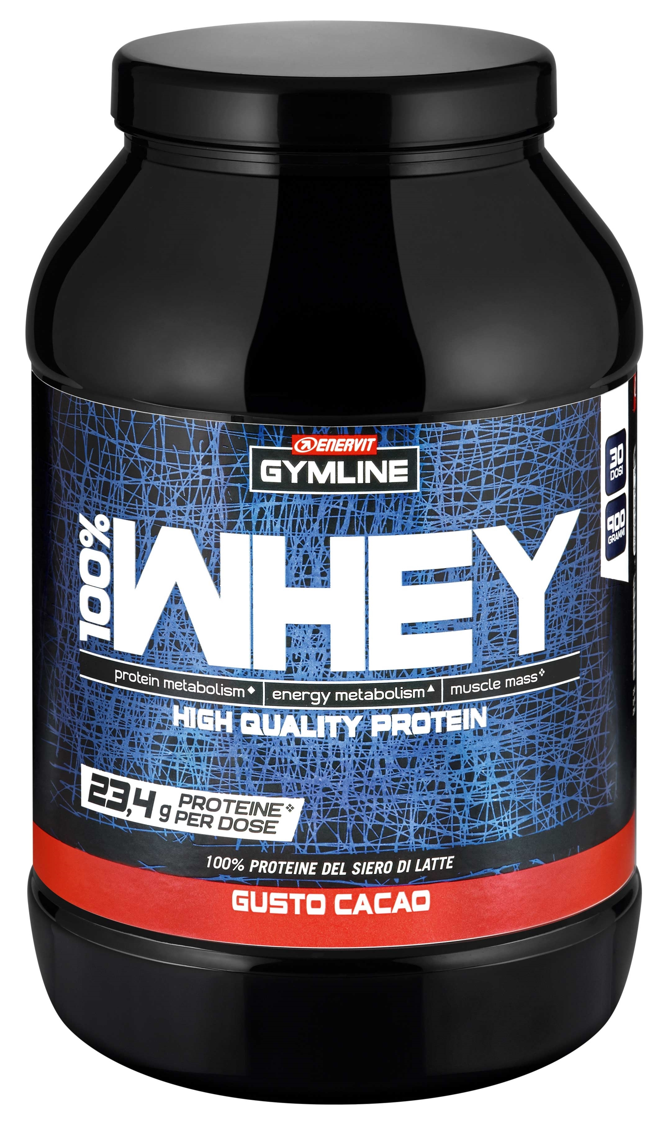 ENERVIT 100% Whey Protein Conc., dóza 900 g, kakao