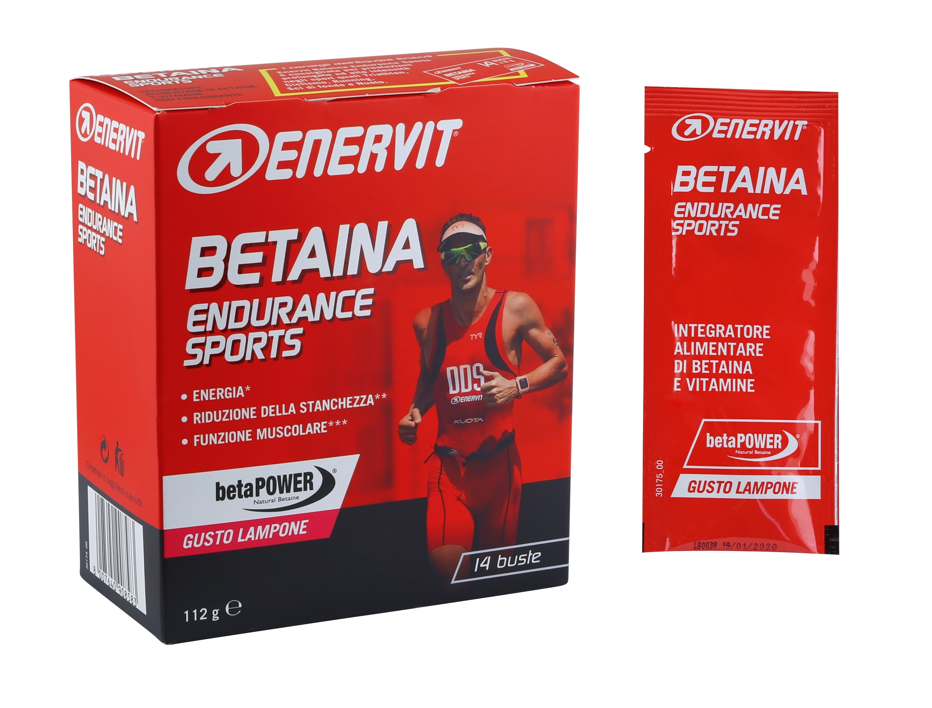 ENERVIT BETAINA Endurance Sports 14x 8g, malina