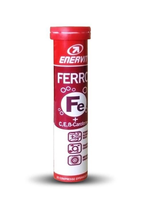 ENERVIT FERRO,20 šumivých tablet, pomeranč